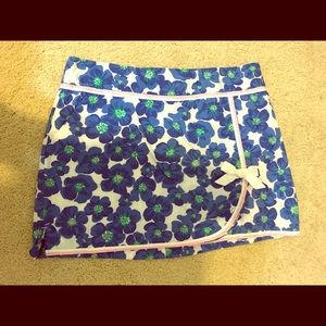 Lilly Pulitzer blue flower skort with bow